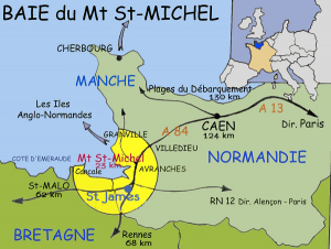 Mont Saint-Michel carte